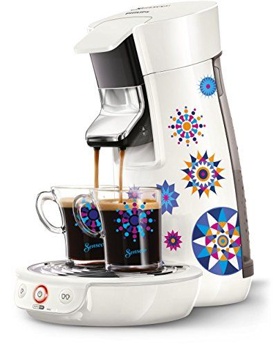 Philips HD7836/11 SENSEO Machine à dosette Blanc 0,9 L: 1 ou 2 tasses à la fois Température optimale dès la première tasse Technologie…