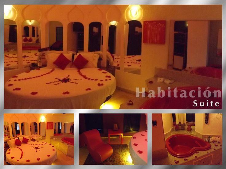 Habitación Suite. Los espacios, decoración y ambiente de esta suite, la convierten en el espacio perfecto para una noche de pasión con elegancia.