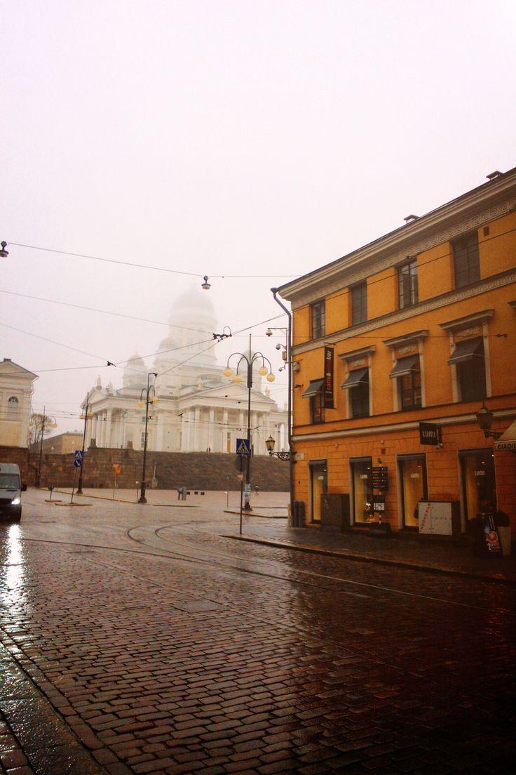 Foggy Helsinki in october