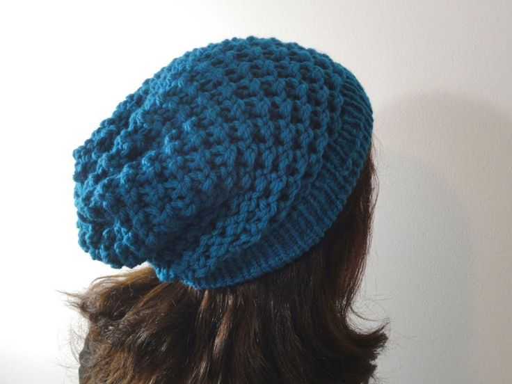How to Loom Knit a Slouchy Beanie Hat (DIY Tutorial)