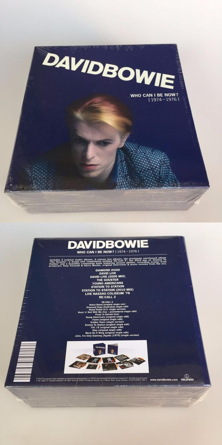 [Visit to Buy] David Bowie Who Can I Be Now CD 1974 To 1976 NEW Sealed 12CD Music cd box set Brand New factory sealed top quality free shipping #Advertisement