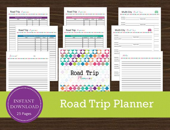 Road Trip Planner  Printable and Editable  by RoadTripBlogger