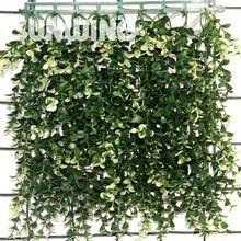 """10 """"x 10"""" Setos de Boj Artificial Arbustos Estera Sythenic Largo Blanco Al Aire Libre Paneles De Plástico Planta de Jardín Valla de Privacidad adornos(China (Mainland))"""