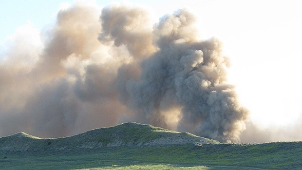 TransCanada's Bison pipeline ruptured on July 20, 2011, sending a massive cloud of dust into the air in northeast Wyoming. The explosion happened just six months after the pipeline went into service.