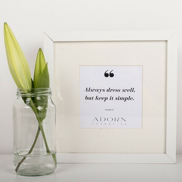 Oh how we love Jackie O. A woman noted for her style and elegance #JackieO #Style #EffortlessElegance #Simple #Elegance #Quotes #AdornCosmetics #StyleIcons