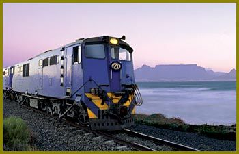 The Blue Train - the famous 5-star trains passes through Kimberley.