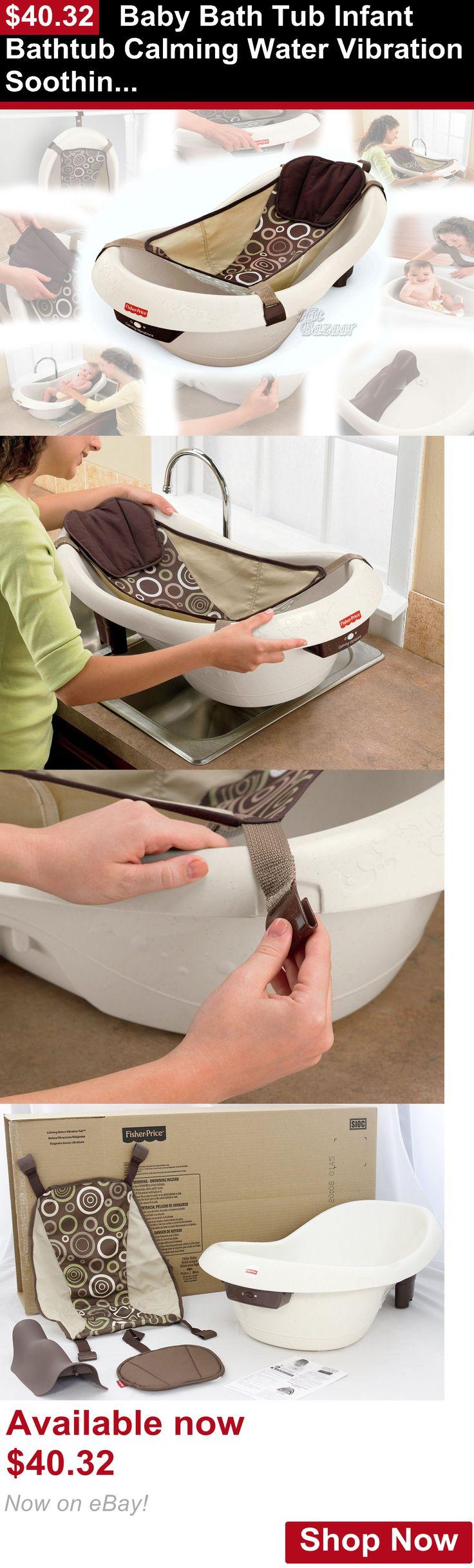 Baby Bath Tubs: Baby Bath Tub Infant Bathtub Calming Water Vibration Soothing Spa Newborn Insert BUY IT NOW ONLY: $40.32