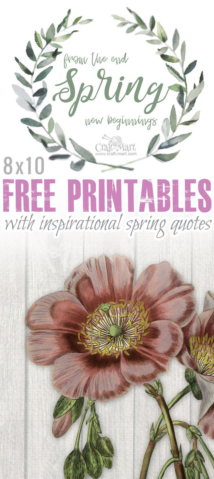 Free Printables With Inspirational Spring Quotes And Sayings With