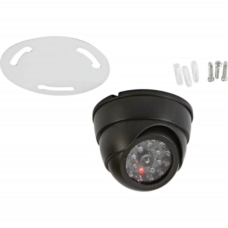 Mini Dome Fake Security Camera Surveillance CCTV Record Light + Install Kit #Mitaki #MockFakeDummySecurityCamera
