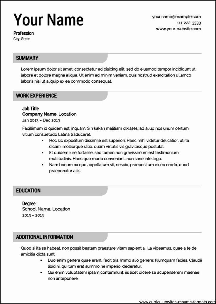 Free Resume Template 2016 Luxury Free Professional Resume