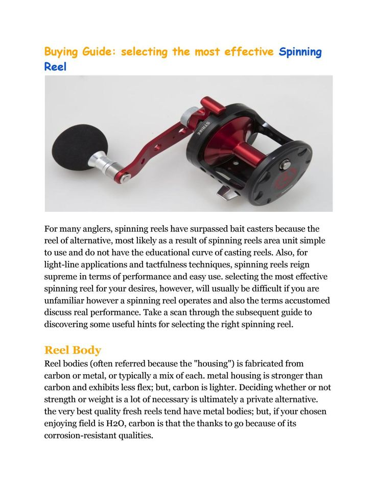 Buying guide best fishing reels