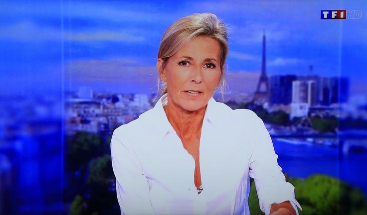 Claire Chazal présente son dernier JT sur TF1 le 13 septembre 2015