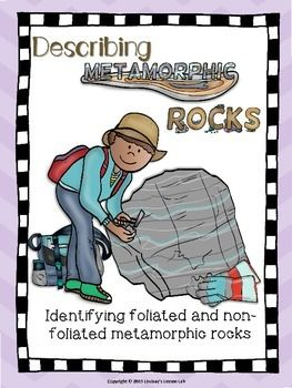 This product is guided notes/data collection chart/conclusion questions all in one!  Students review how metamorphic rocks form and how to tell a foliated rock from a non-foliated rock.  Students then look at samples of metamorphic rocks and identify them as either foliated or non-foliated. #TpT #teacherspayteachers #middleschool #science #education #geology #metamorphicrocks #sciencelessons #LLLab