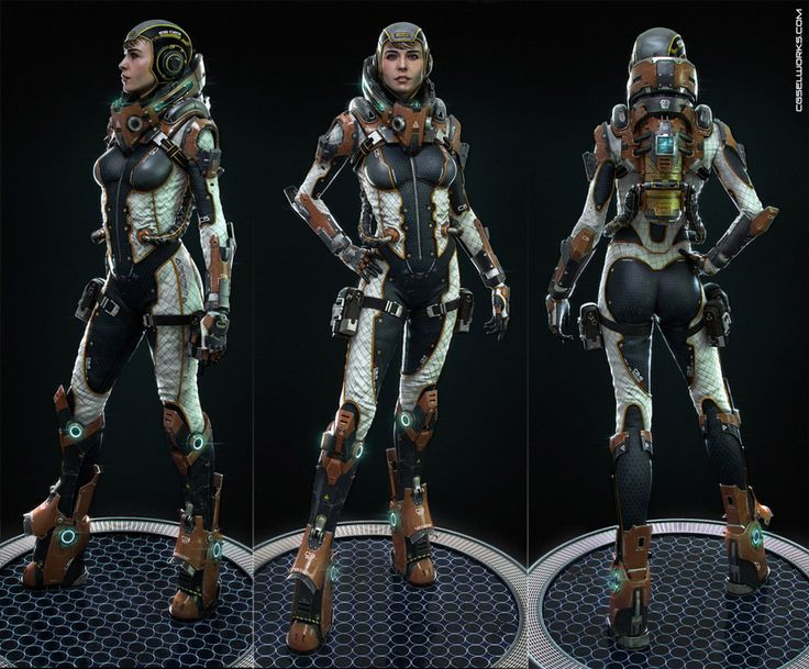 space girl - 3d character models