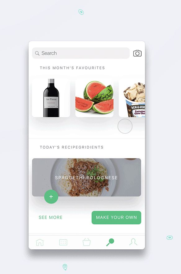 Mercadona Supermarket Mobile & Wearable App concept based on AI.
