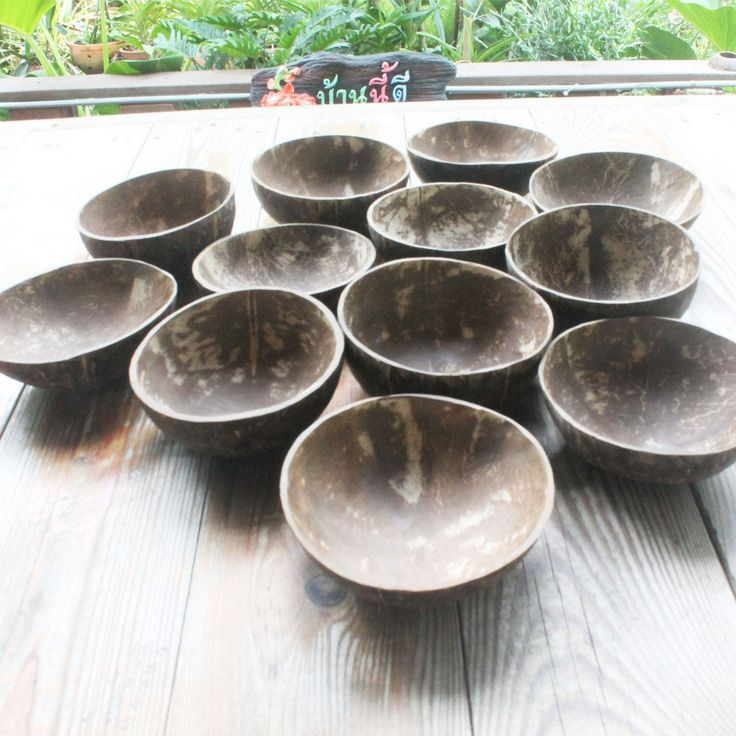 Wholesale set coconut bowl   ,price include shipping,small size 3.5 x 1.5 inch by TheThailand on Etsy