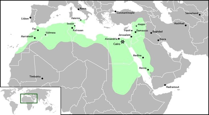 El Imperio Fatimí o Califato Fatimí 909-1171