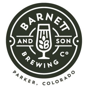 Barnett and son | Brewing co Parker, Colorado Alcohol | Beverage | logo | crest | bradge