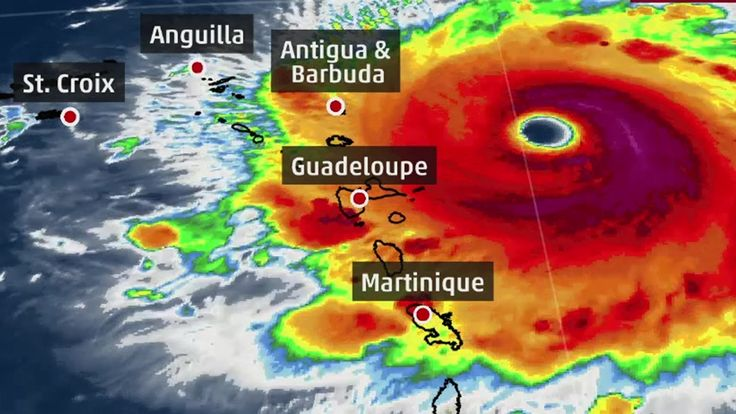 Irma continues to strengthen in the Atlantic as a Category 5 Hurricane.