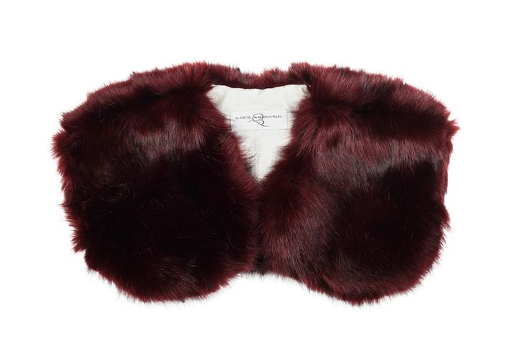 Berry faux fur bolero for little flower girls. By Blanche in the Brambles. £45