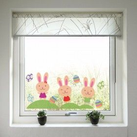 Velikonoční dekorace na okno - Zajíčci a vajíčka