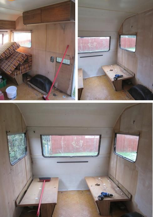 My little vintage caravan project ~ Clearing out the old… | Cassiefairy - My Thrifty Life