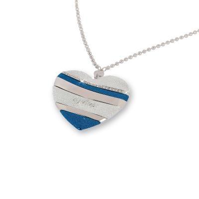 Byblos Jewels Collana Temptation cuore blu ( catena 80 cm ), #collane #byblos