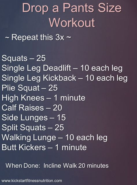 Drop a Pants Size Workout.