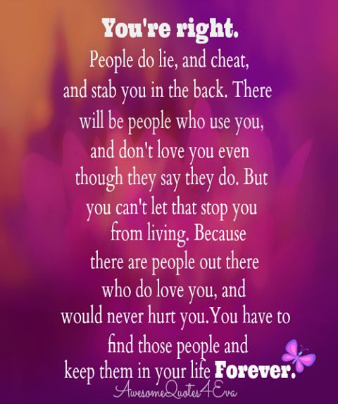 Find the Right People to fit into your life...
