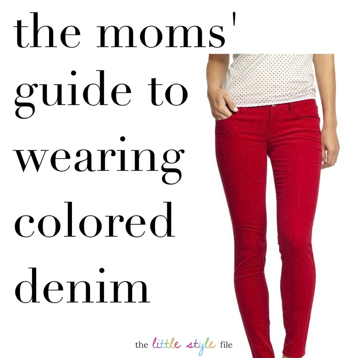how to wear colored denim