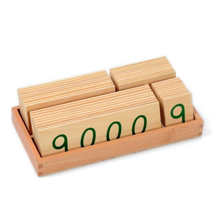 Baby Speelgoed Hout Nummer Kaarten 1 9000 Montessori Math Voorschoolse…
