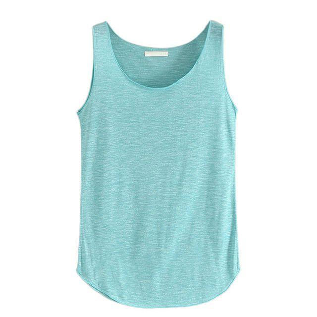 Vrouwen Fitness Tank Top Nieuwe T-shirt Casual Losse Model vrouwen Katoen O-hals Slim Tops Fashion Plus Size Dames Vest Singlets