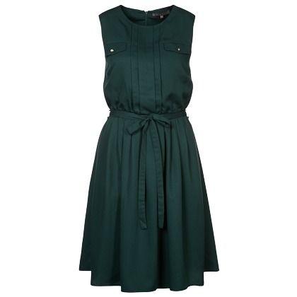 Casual jurk in het donkergroen van mint