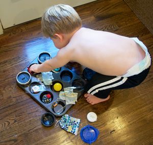 Toddler activities with stuff around the house