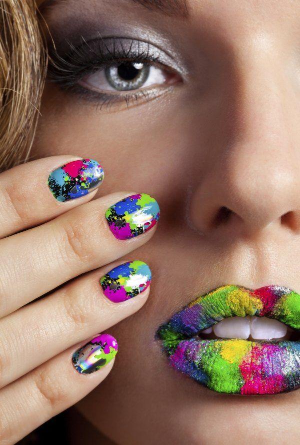 Die besten 17 ideen zu farbspritzer auf pinterest for Nagellack designs