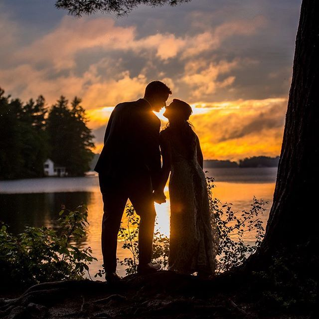 They were still calling for a lot of rain at ceremony time for these two lovebirds, I was wondering what the day would bring. Ryan the groom said he wanted a sunset and it magically appeared.