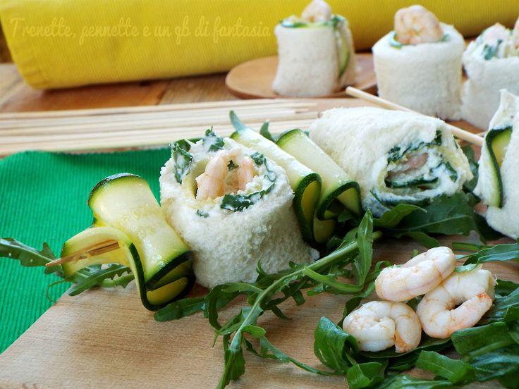 Spiedini+di+pane+zucchine+e+gamberi