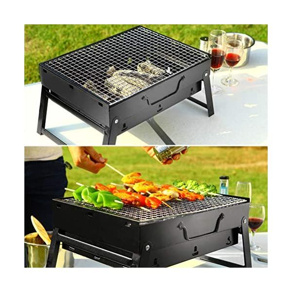 Portable Folding Grills Stainless Steel Small Grill Stove Charcoal Bbq In 2020 Charcoal Bbq Grill Charcoal Bbq Folding Bbq