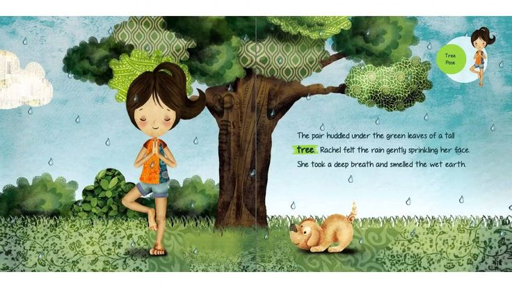 Rachel's Day in the Garden - A Kids Yoga Stories Audio Yoga Book for Kids