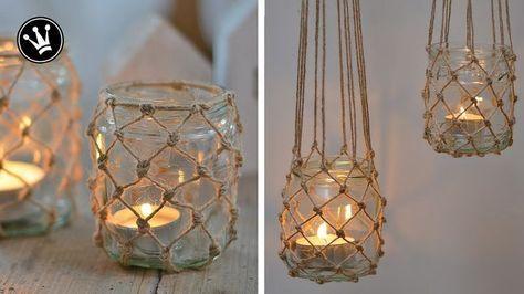 DIY – Windlicht im Fischernetz-Look | einfacher Ma…