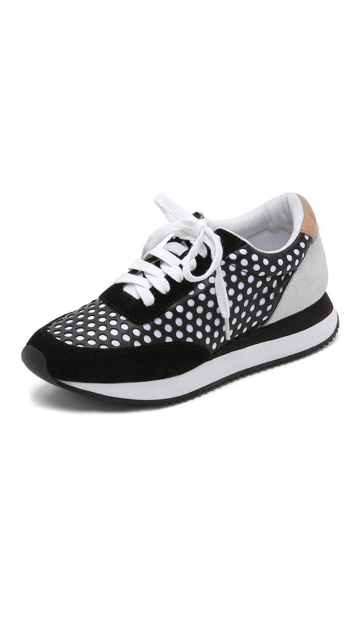 Loeffler Randall Rio Perforated Joggers - Black Mix | SHOPBOP.COM created by #ShoppingIS