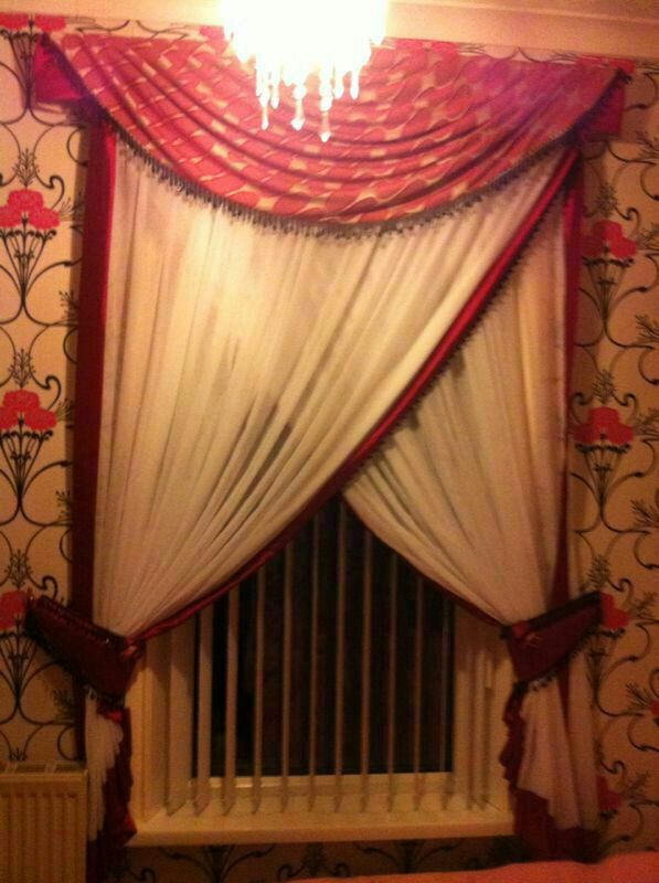 drapes for bedrooms. pink and white bedroom drapes 9 best curtain swag tails images on Pinterest  Curtains Swag