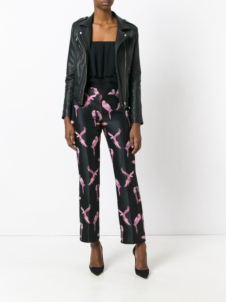Giamba macaw print trousers 3131 women clothing ,gadea zapatos outlet,Excellent quality