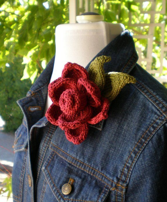 PDF Knit Flower Pattern - Rose Knit Flower | 1533QCA Content