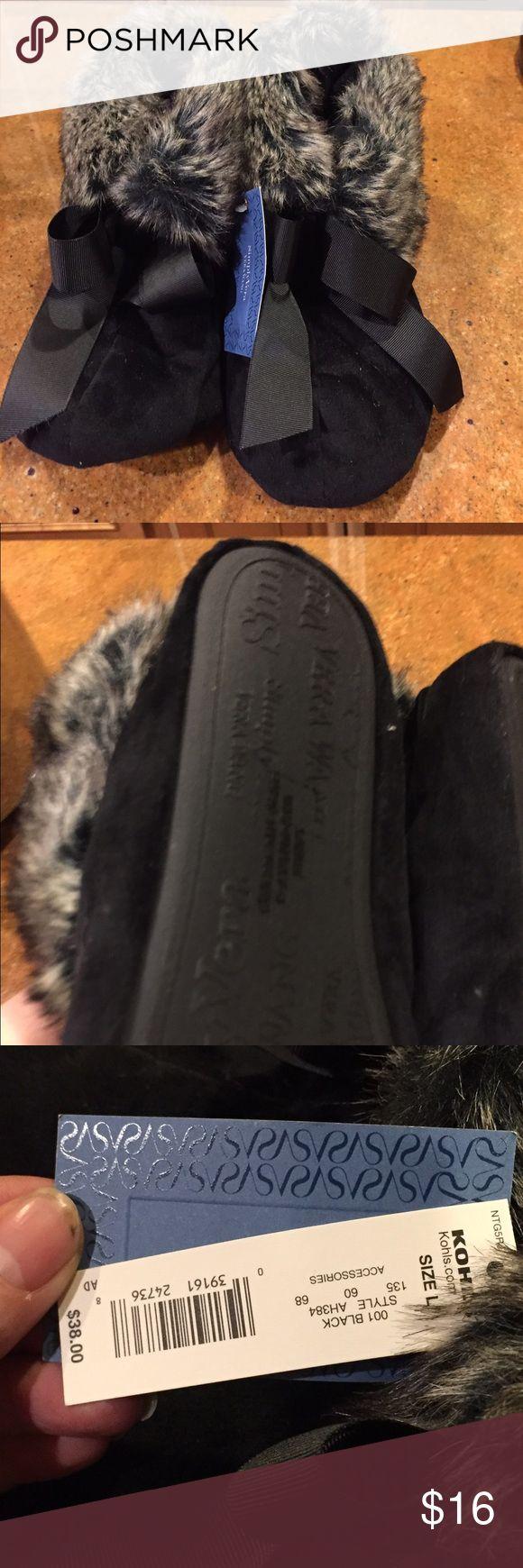 Simply Vera Very Wang Black slippers Simply Vera Very Wang Black slippers brand new size L Simply Vera Vera Wang Shoes Slippers