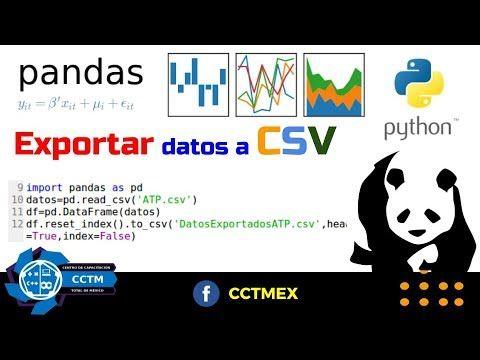 Pandas para Python: Exportar a archivo CSV (Muy Básico)