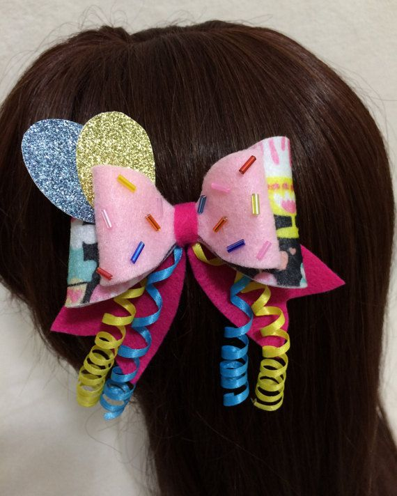 Hey, I found this really awesome Etsy listing at https://www.etsy.com/listing/264820704/pinkie-pie-felt-hair-bow-kawaii-cosplay