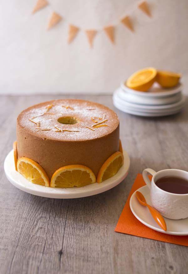 Chiffon cake à l'orange