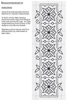 Blackwork bookmark 1
