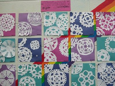 great for teaching students to use the whole page!!!: Kirigami Snowflakes, Art Lessons, Art Winter, 5Th Grades, Grade Kirigami, Elementary Art, Art Projects, 2Nd Grade